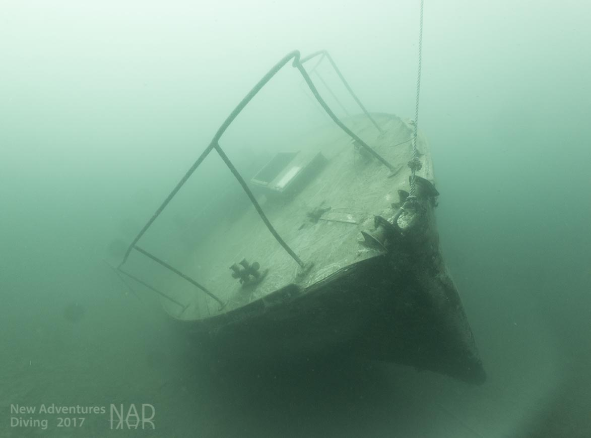 The Podsnap, a minesweeper now in Capernwray Dive Centre.